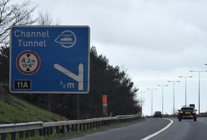 L'entrée du tunnel sous la Manche, à Folkestone (Kent). © Reuters