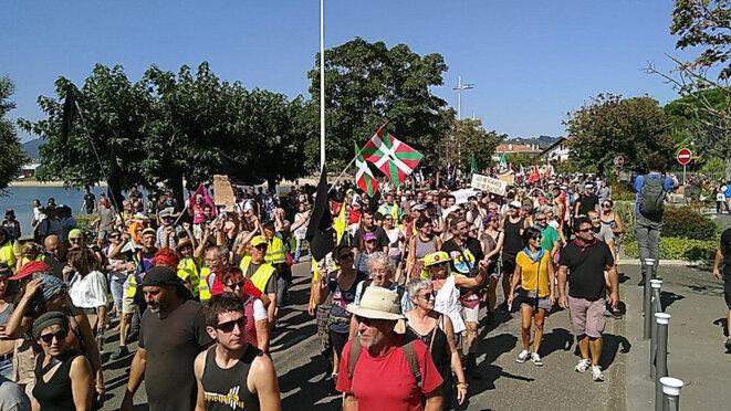Manifestation contre le G7 à Hendaye le 24 août