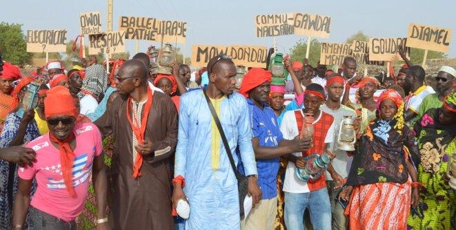 Manifestation des populations du Nord du Sénégal
