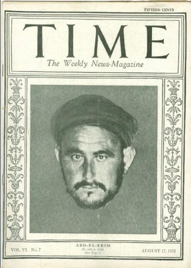 Le chef rebelle rifain, Abdelkrim, fait la couverture du magazine TIME en 1925.