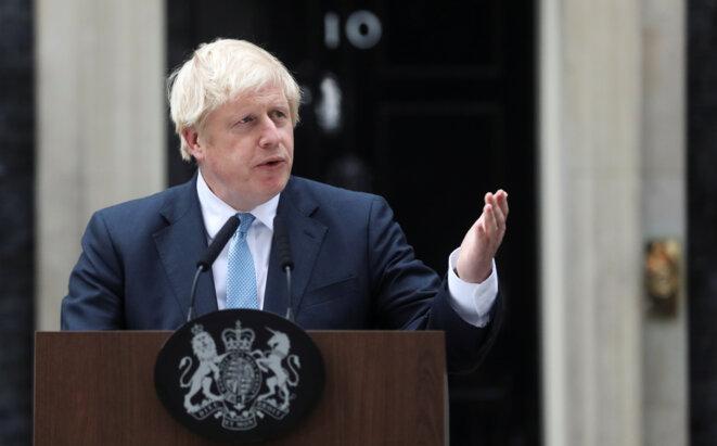 Boris Johnson, devant Downing Street, à Londres, le 2 septembre. © Reuters
