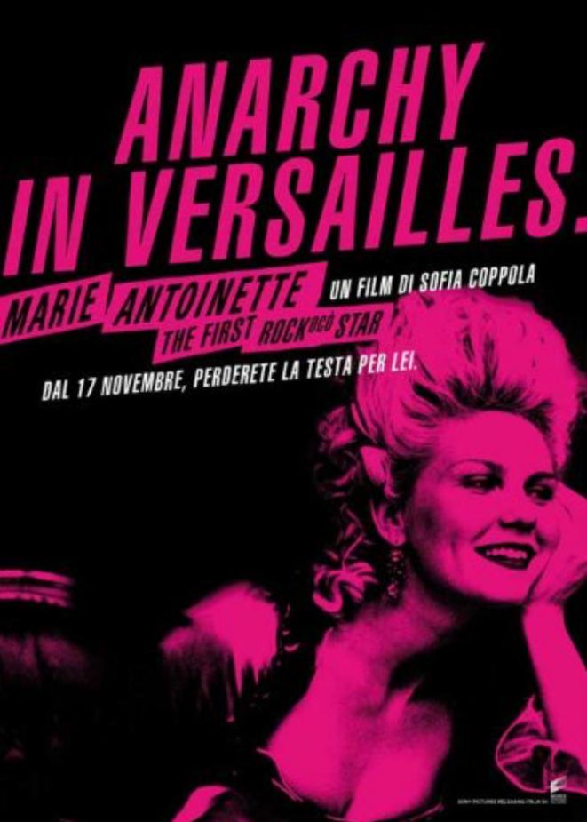"""""""Marie-Antoinette"""" de Sonia Coppola (2006). Affiche italienne. © Amazon.co.uk_Pop Culture Graphics"""