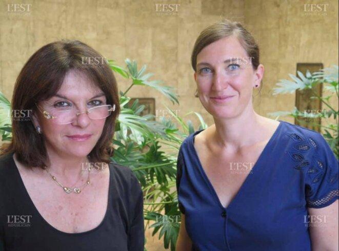 Nathalie Goulet et Carole Grandjean [photo l'Est-Républicain]
