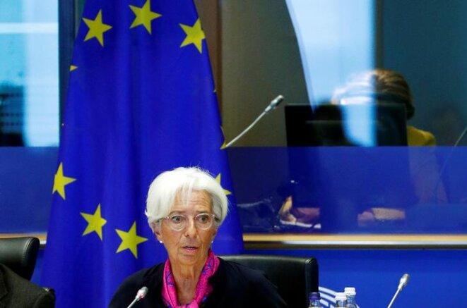 Christine Lagarde devant la Commission des affaires économiques et monétaires du Parlement européen, le 4 septembre, à Bruxelles. © Reuters