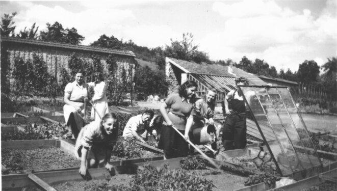 Internat public pour les filles de Brécourt (Oise), créé en 1947 et qui se démarque grandement des écoles de préservation et des Bon Pasteur. © Ministère de la justice