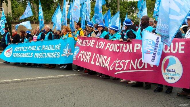 Manifestation unitaire Fonction publique du 9 mai 2019 (Paris): cortège UNSA © Luc Bentz (photo personnelle)