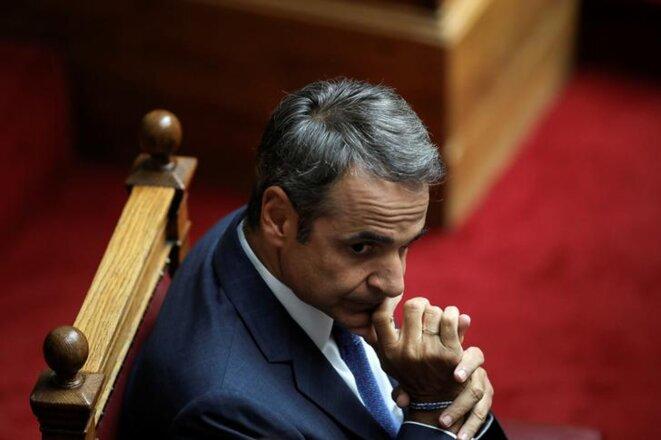 Le premier ministre grec Kyriakos Mitsotakis. © Reuters