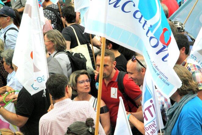 Manifestation unitaire Fonction publique du 22/5/18 © Luc Bentz