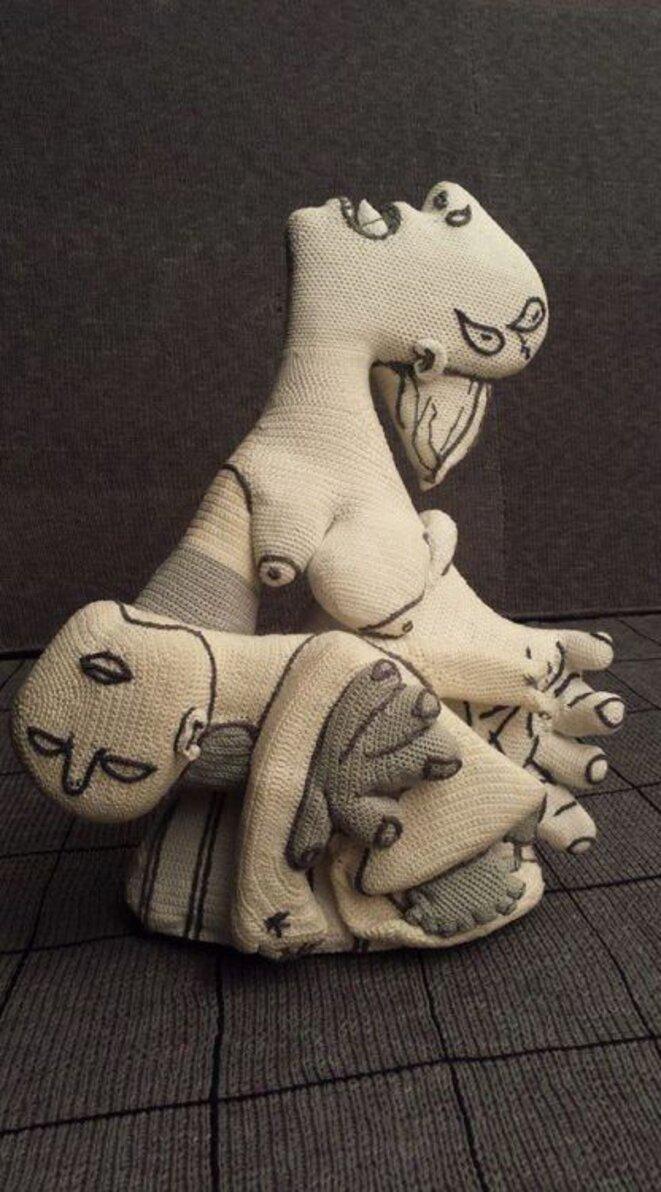 Femmes criant - tissu d'après Guernica © Sull Fillo Dell'Arte