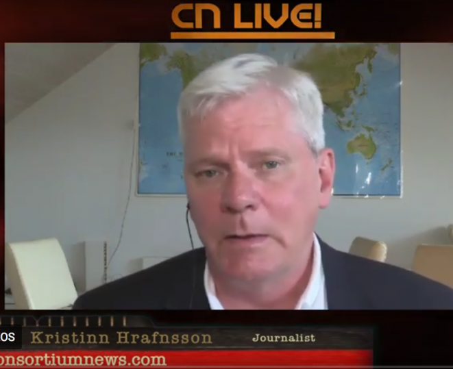 WikiLeaks editor Kristin Hrafnsson on July 19th, Consortium News interview © Consortium News