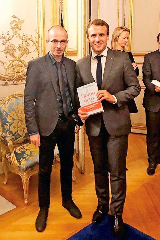 Yuval Noah Hariri et Emmanuel Macron