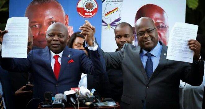 Vital Kamerhe et Félix Tshisekedi s'unissent pour la présidentielle de 2018 © Twitter - DR