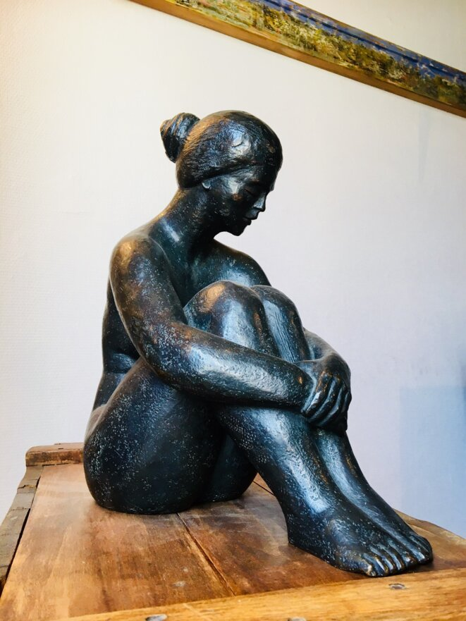"iPhone KT "" Hiva Oa"" ( d'après P. Gauguin ), Bronze de José Bonhomme"