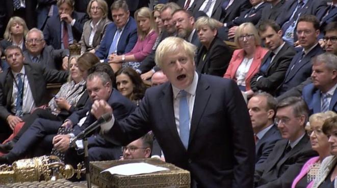 Boris Johnson au Parlement à Londres, le 10 septembre 2019. © Capture d'écran