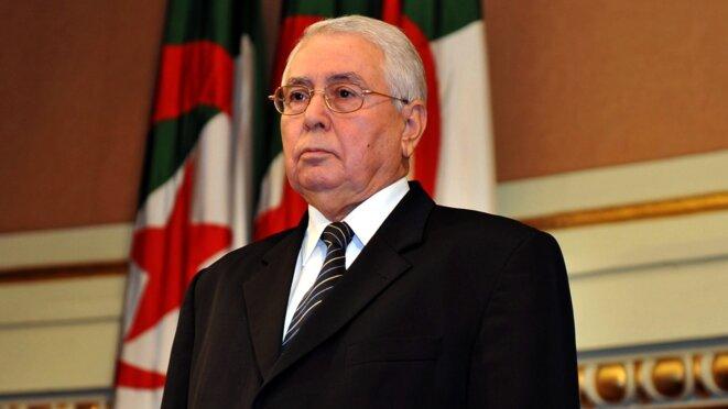 Le président par intérim Abdelkader Bensalah. © (dr)