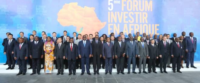 Photo de Famille du FIA en compagnie des chefs d'Etats africains
