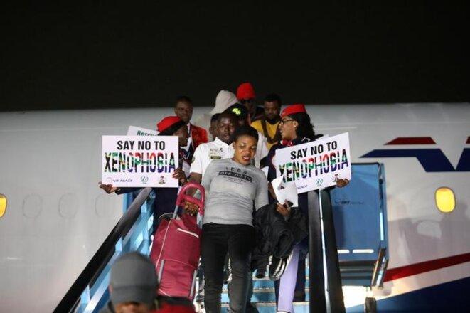 Des Nigérians, évacués d'Afrique du Sud en raison des violences xénophobes. © Reuters