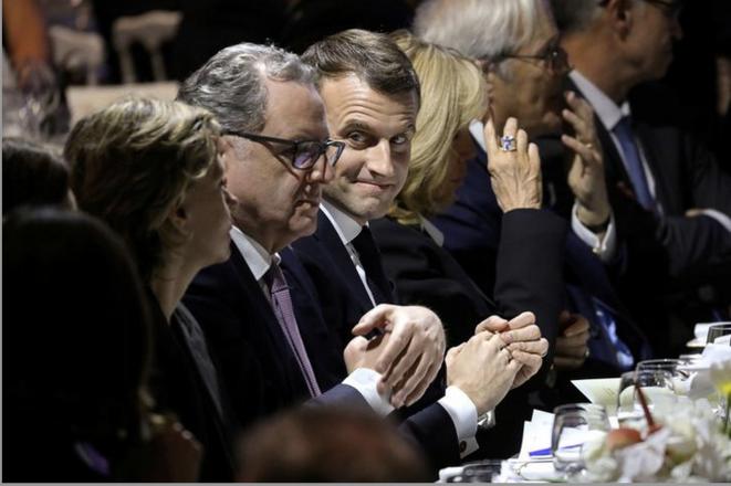 Richard Ferrand et Emmanuel Macron en février 2019. © Reuters
