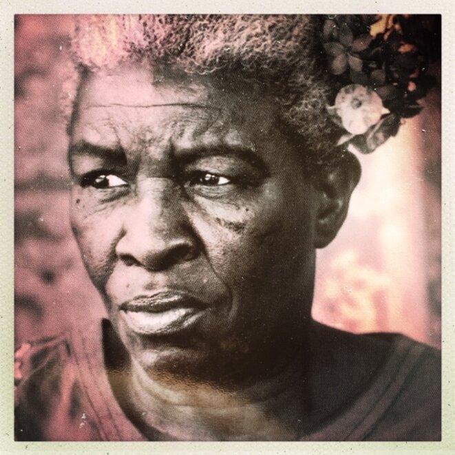 portrait de la mère de l'auteur © Réginald Louissaint