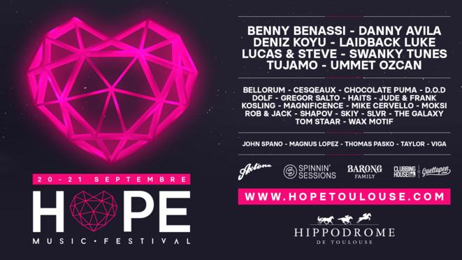 Line-Up Hope Festival 2019 © Hope Festival