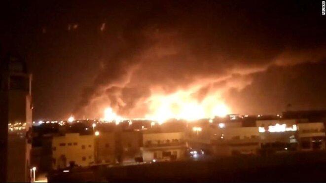 Le site pétrolier d'Abqaiq en Arabie saoudite, le 14 septembre. © Reuters