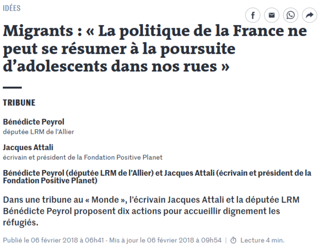 © Le Monde, 6.02.2018 (capture d'écran)