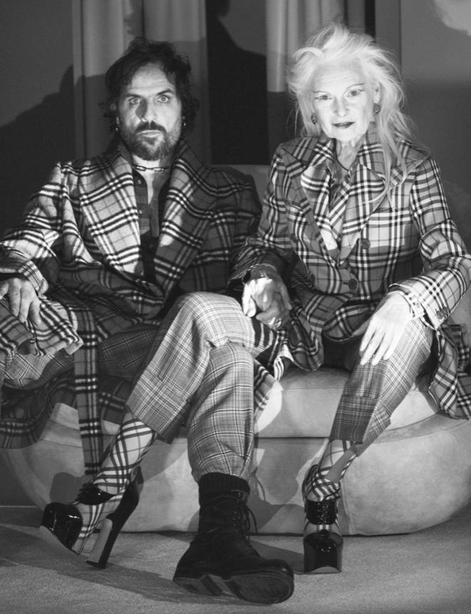"Dame Vivienne Westwood et son mari, Andreas Kronthaler. © Burberry / ""FashionUnited"""