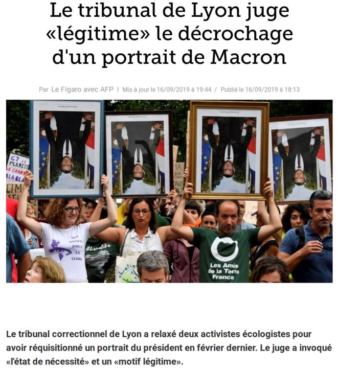 http://www.lefigaro.fr/flash-actu/le-tribunal-de-lyon-juge-legitime-le-decrochage-d-un-portrait-de-macron-20190916