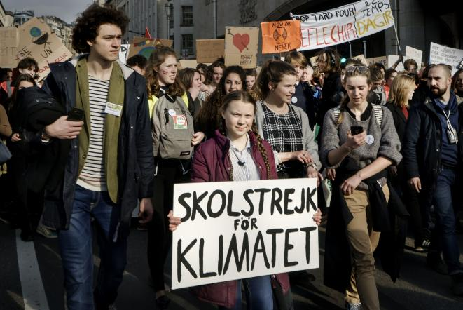 Greta Thunberg lors d'une manifestation Friday for Future © © Eric de Mildt. All rights reserved