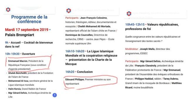 Le programme tel qu'annoncé, avant qu'Emmanuel Macron et Édouard Philippe ne se désengagent.