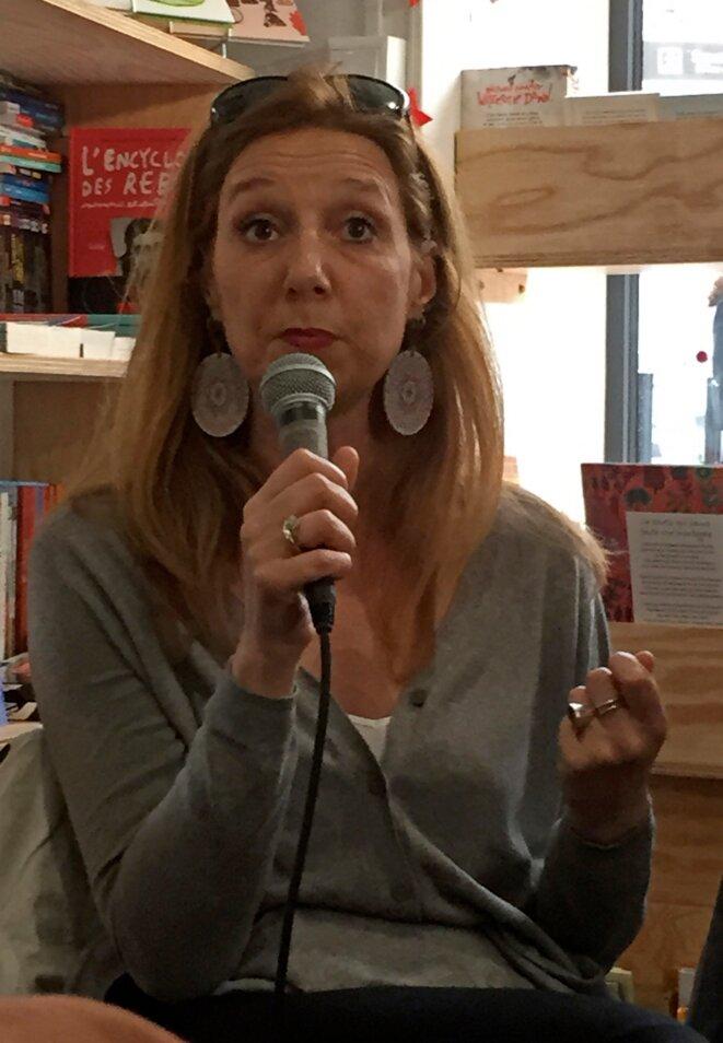Laurence De Cock à la librairie Libertalia, Montreuil, avril 2019 © Gilles Walusinski