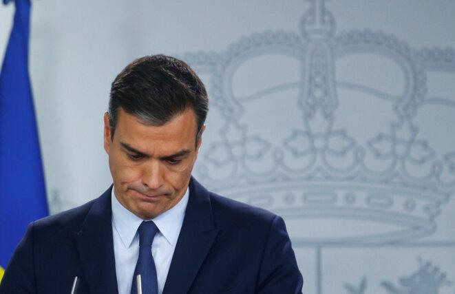 Pedro Sánchez après sa rencontre avec le roi, le 17 septembre 2019. © Reuters/Javier Barbancho