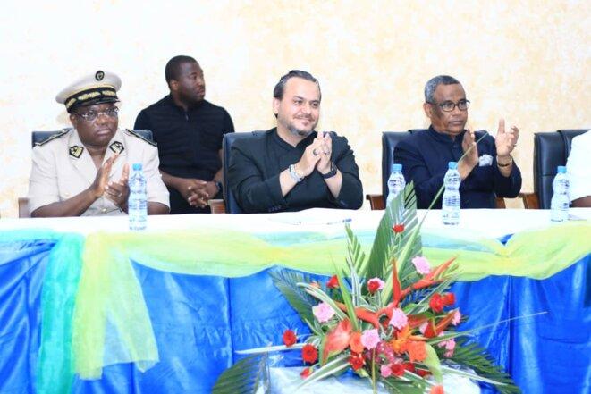 Gabon- 2ème journée de la tournée de Brice LACCRUCHE ALIHANGA à Port-Gentil- Rencontre avec tout le mond e-18 septembre 2019