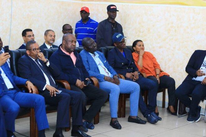 Gabon - 2ème journée de la tournée de Brice LACCRUCHE ALIHANGA à Port-Gentil- Les ministre du gouvernement