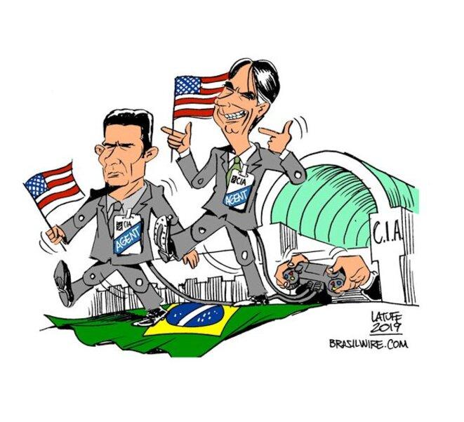 Bolsonaro, Moro et la CIA © Latuff