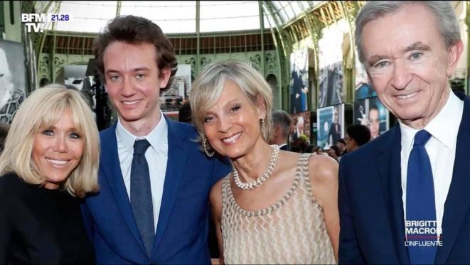 Brigitte Macron avec Bernard Arnault