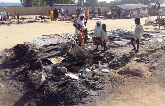Après une attaque attribuée à Boko Haram, à Dalori, au Nigeria, le 1er novembre 2018. © Reuters