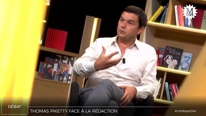 Thomas Piketty à Mediapart le 18 septembre 2019. © Mediapart