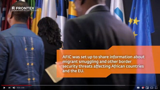 Africa-Frontex Intelligence Community (AFIC), 2018. Screenshot