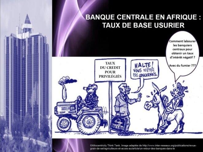 Les banques centrales en Afrique pratiquent un taux de base usurier