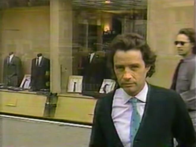 Jean-Luc Brunel, dans une enquête du magazine « 60 minutes » diffusée en décembre 1988 par la chaîne américaine CBS. © Capture d'écran de la vidéo CBS