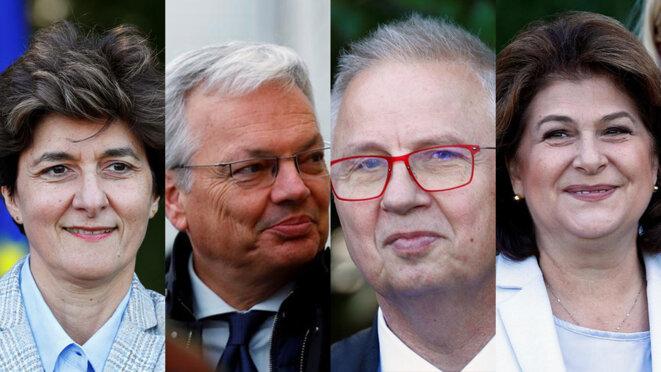 Sylvie Goulard, Didier Reynders, László Trócsányi  et Rovana Plumb. © Reuters
