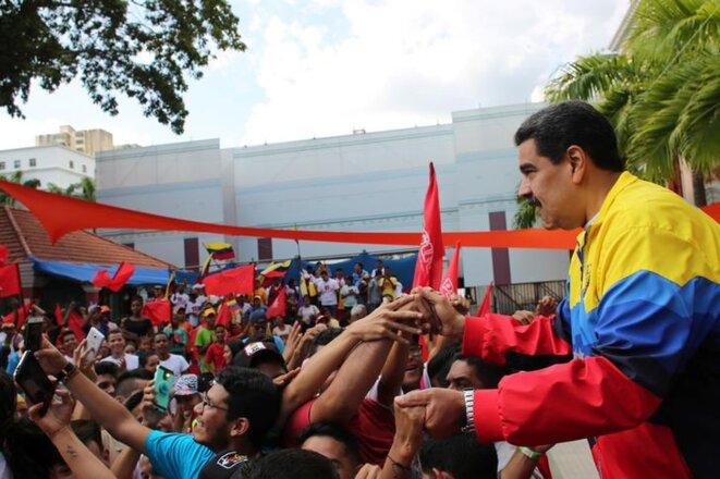 Le président vénézuélien Nicolás Maduro, à Caracas le 12 septembre 2019. © Reuters