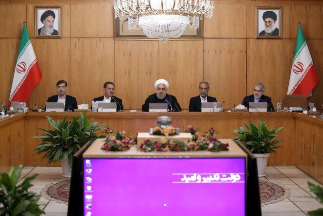 Le président iranien Hassan Rouhani lors du conseil des ministres le 18 septembre 2019. © Reuters