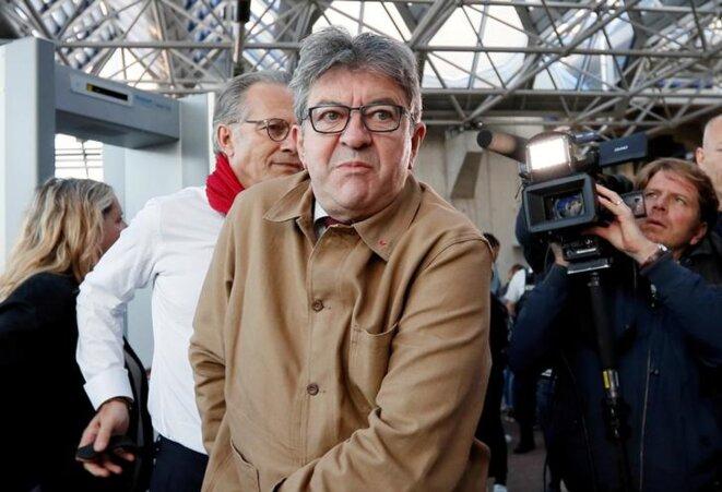 Jean-Luc Mélenchon au tribunal de Bobigny le 19 septembre. © Reuters