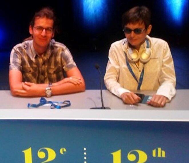 Tristan Yvon et Stef Bonnot-Briey au congrès d'Autisme Europe © DR