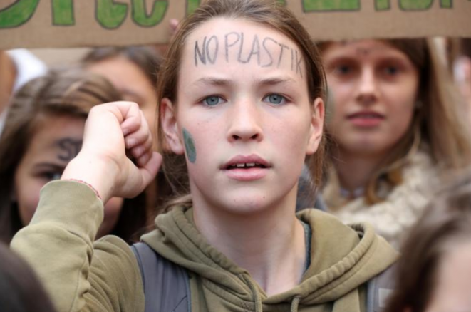Grève pour le climat à Bruxelles, vendredi 20 septembre. © Reuters