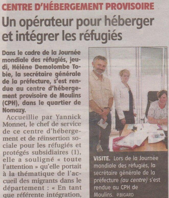 Avec Yannick Monnet. © La Montagne (édition papier du 22.06.19)
