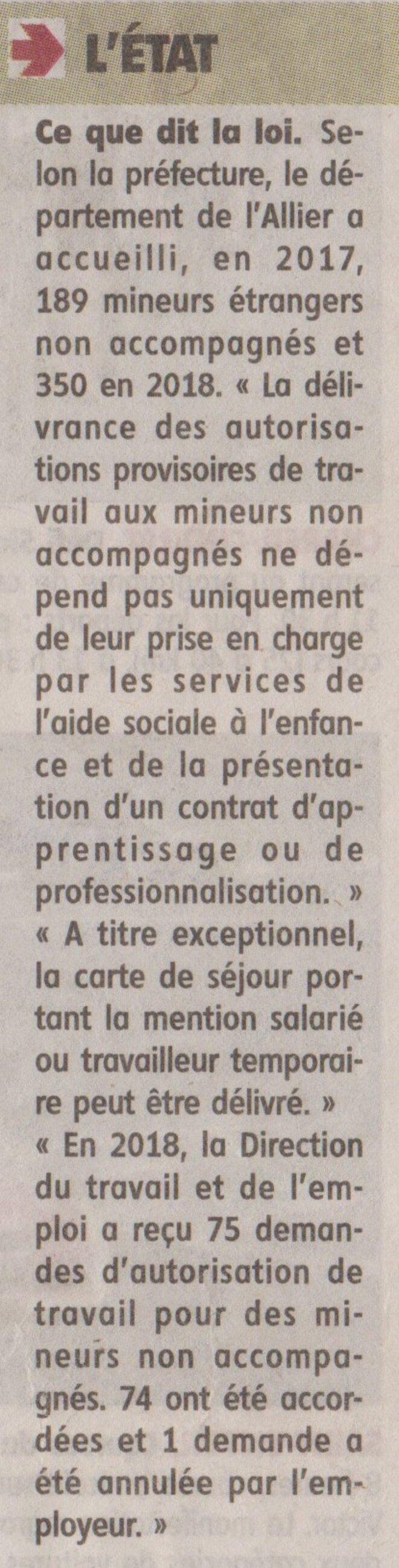 """""""La loi [et les faits] selon la préfecture."""" © La Montagne (édition papier du 11.05.19)"""