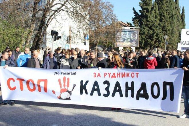 Protestations populaires contre les projets miniers en Macédoine du Nord